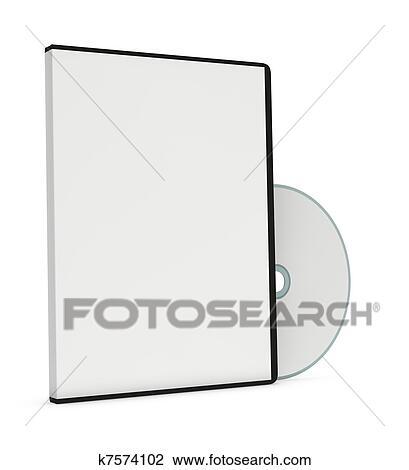 Blank cd or dvd jewel case Clip Art k7574102