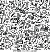 Clipart of rap,hip hop ,graffiti - seamless background ...