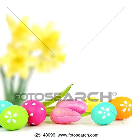 Stock Images of Easter egg border k25148096 - Search Stock