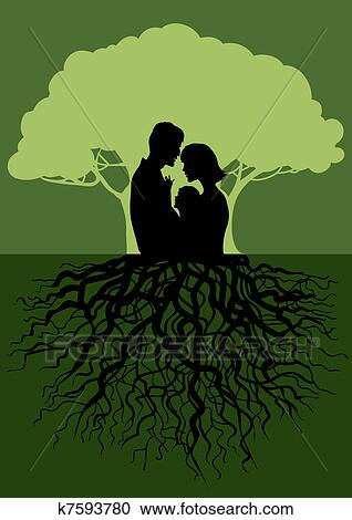 Clipart of Family tree k7593780 - Search Clip Art, Illustration