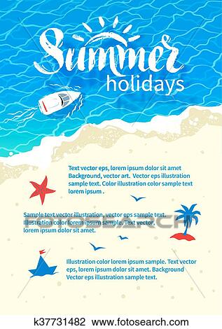 Clipart of Summertime vacation flyer design k37731482 - Search Clip