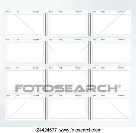 Clip Art - storyboard, plantilla, vertical, x12 k24424677 - Buscar - vertical storyboard