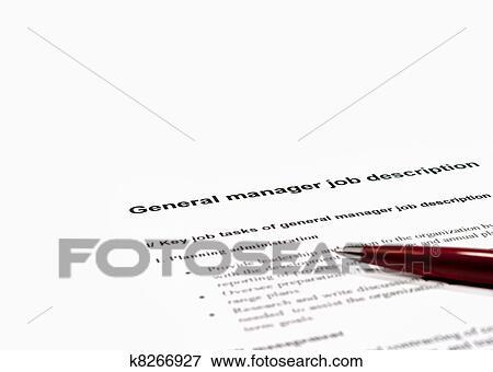 General manager job description Picture