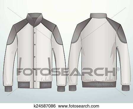 Clip Art of Jacket or sweatshirt template k24587086 - Search Clipart