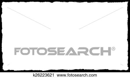 Clipart of Unique Black border on white k26223621 - Search Clip Art - black border background