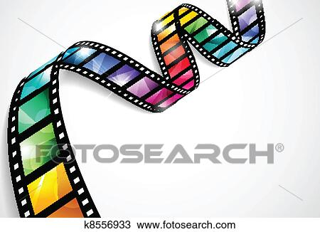 Clipart of Colorful film strips k8556933 - Search Clip Art