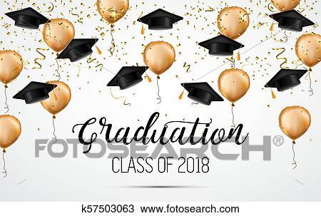 Clipart of Graduation class of 2018 Congratulations graduates