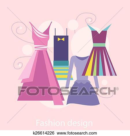 Clip Art of Fashion Design k26614226 - Search Clipart, Illustration