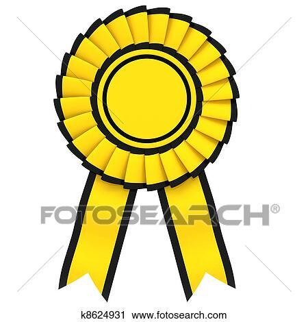 Yellow Ribbon award Clipart