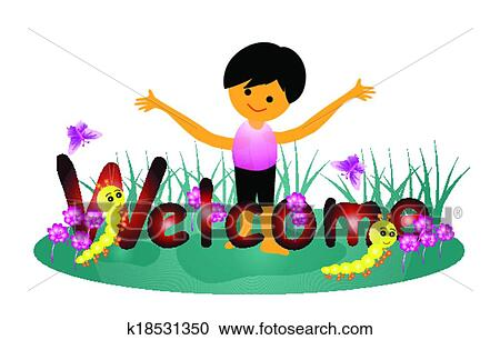 Welcome word Clipart k18531350