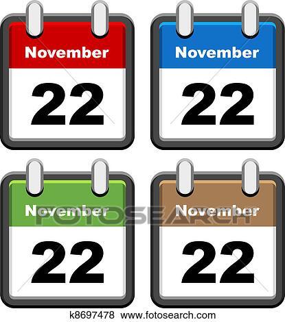 Clip Art of vector simple calendars k8697478 - Search Clipart