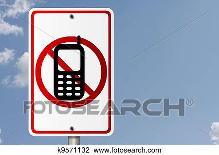 Clip Art of No Cell Phones while driving k9571132 - Search Clipart