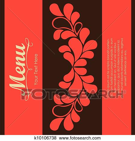 Clip Art of Elegant card for restaurant menu k10106738 - Search