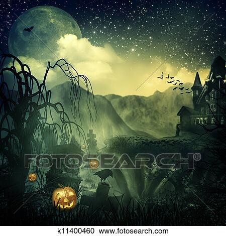 Stock Illustrations of Scary Movie Abstract halloween backgrounds