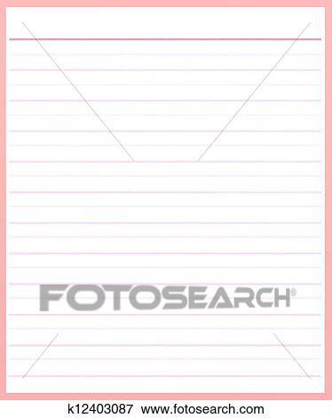 Stock Illustration of A Sheet of Pink Color Lined Paper k12403087 - color lined paper