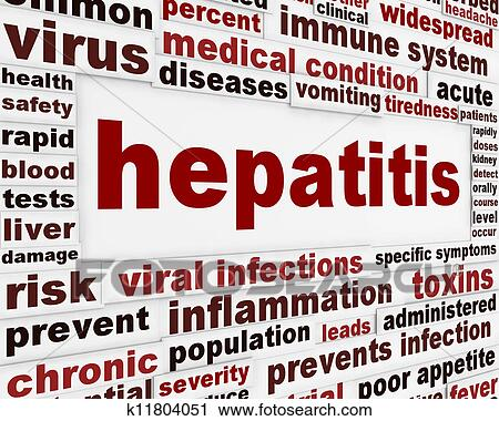 Clipart of Hepatitis medical poster concept k11804051 - Search Clip