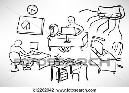 Clipart of Sketch of a typical day k12262942 - Search Clip Art