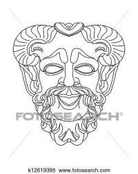 Archivio Illustrazioni - greco, teatrale, maschera, di ...