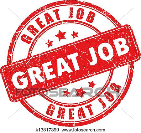Clip Art of Well done stamp k19877916 - Search Clipart - job well done
