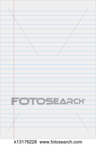 Clip Art of Notebook paper with lines k13176228 - Search Clipart