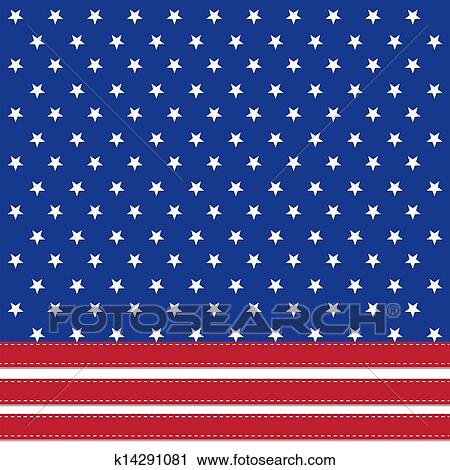 Clipart of American flag background with stars symbolizing 4th july