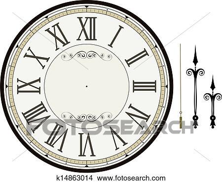 clock face template - Barcaselphee