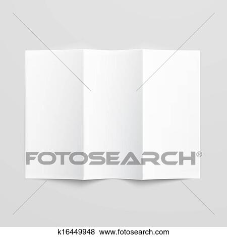 Clip Art of Blank trifold paper brochure k16449948 - Search Clipart