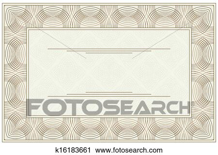Clipart of Blank voucher k16183661 - Search Clip Art, Illustration