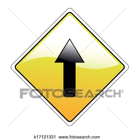 Clipart of arrow signal k17121331 - Search Clip Art, Illustration