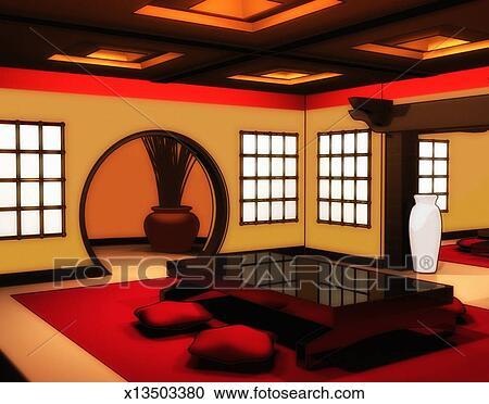 Stock Fotografie   Japanische, Stil, Esszimmer X13503380   Suche