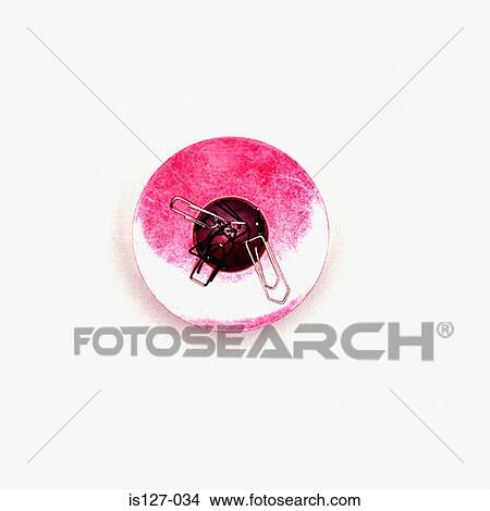 Stock Photo of Magnet paper clip holder is127-034 - Search Stock
