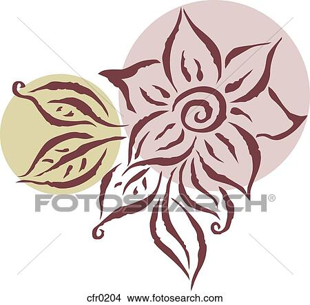 Drawings of A drawing of a flower cfr0204 - Search Clip Art
