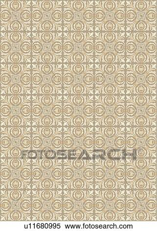 Clipart of Cream grey fancy background pattern u11680995 - Search