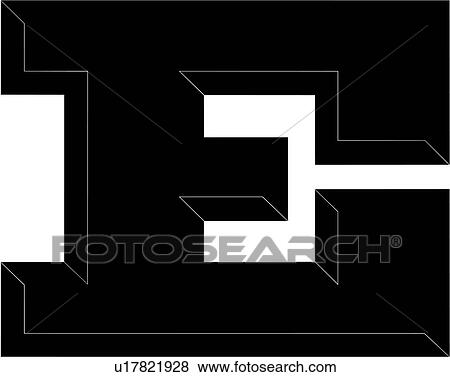 alphabet, letter, chisel, block, uppercase, capital, e, Clip Art