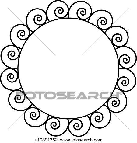 Swirly Circle Page Border