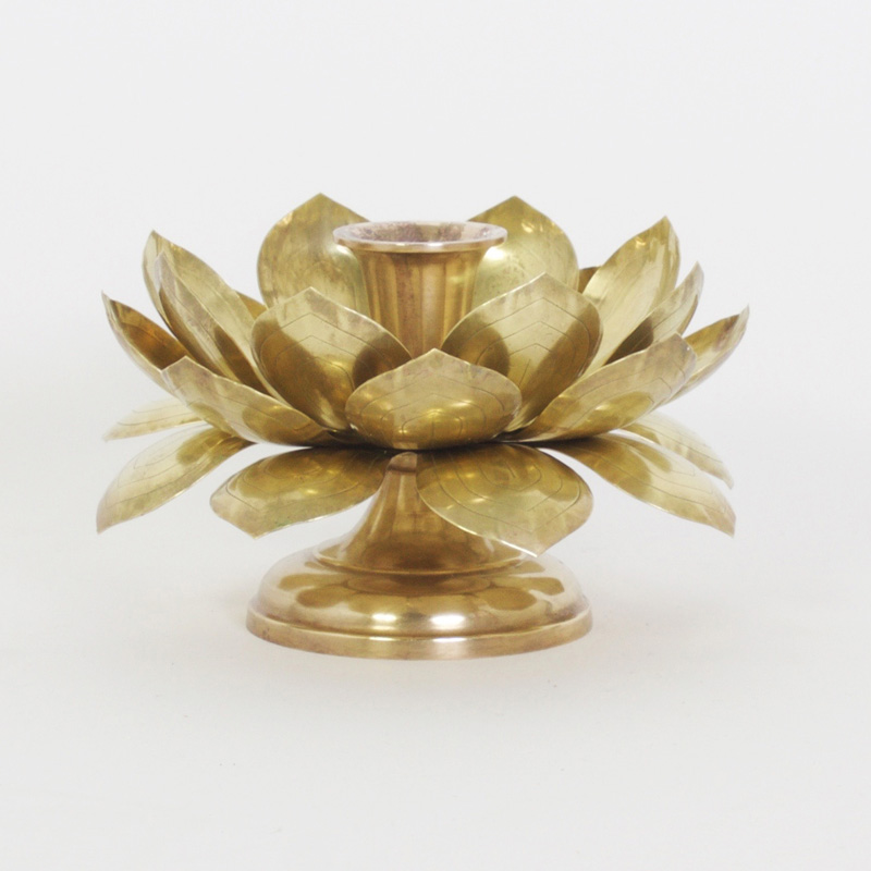 Brass Lotus Candle Holder