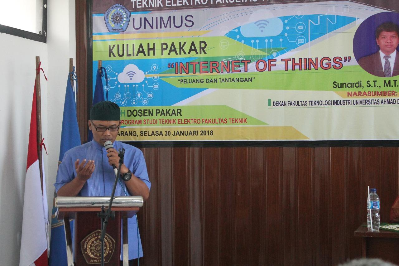 Kuliah Dosen Pakar Teknik Elektro Fakultas Teknik Unimus. internet of things.