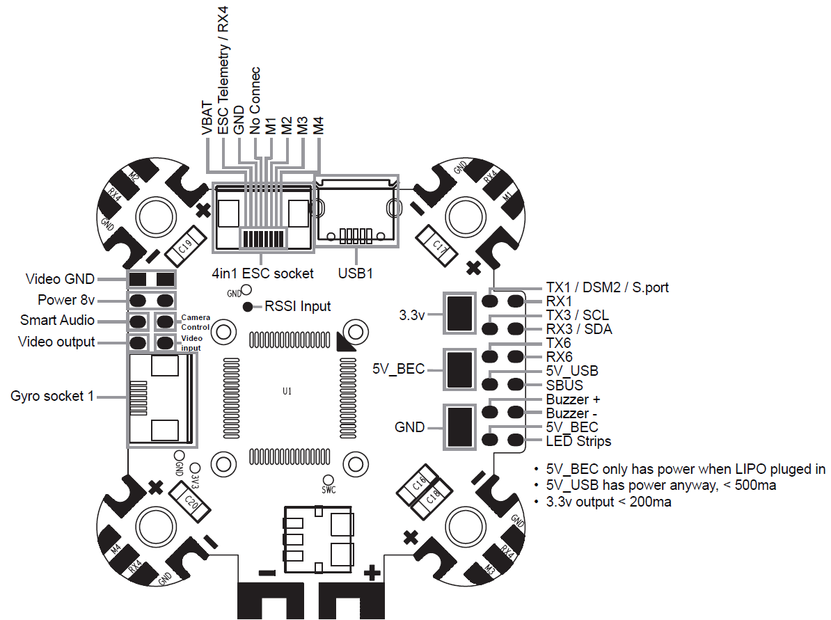 bec wiring diagram for fpv