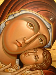 Icon detail -- the Theotokos