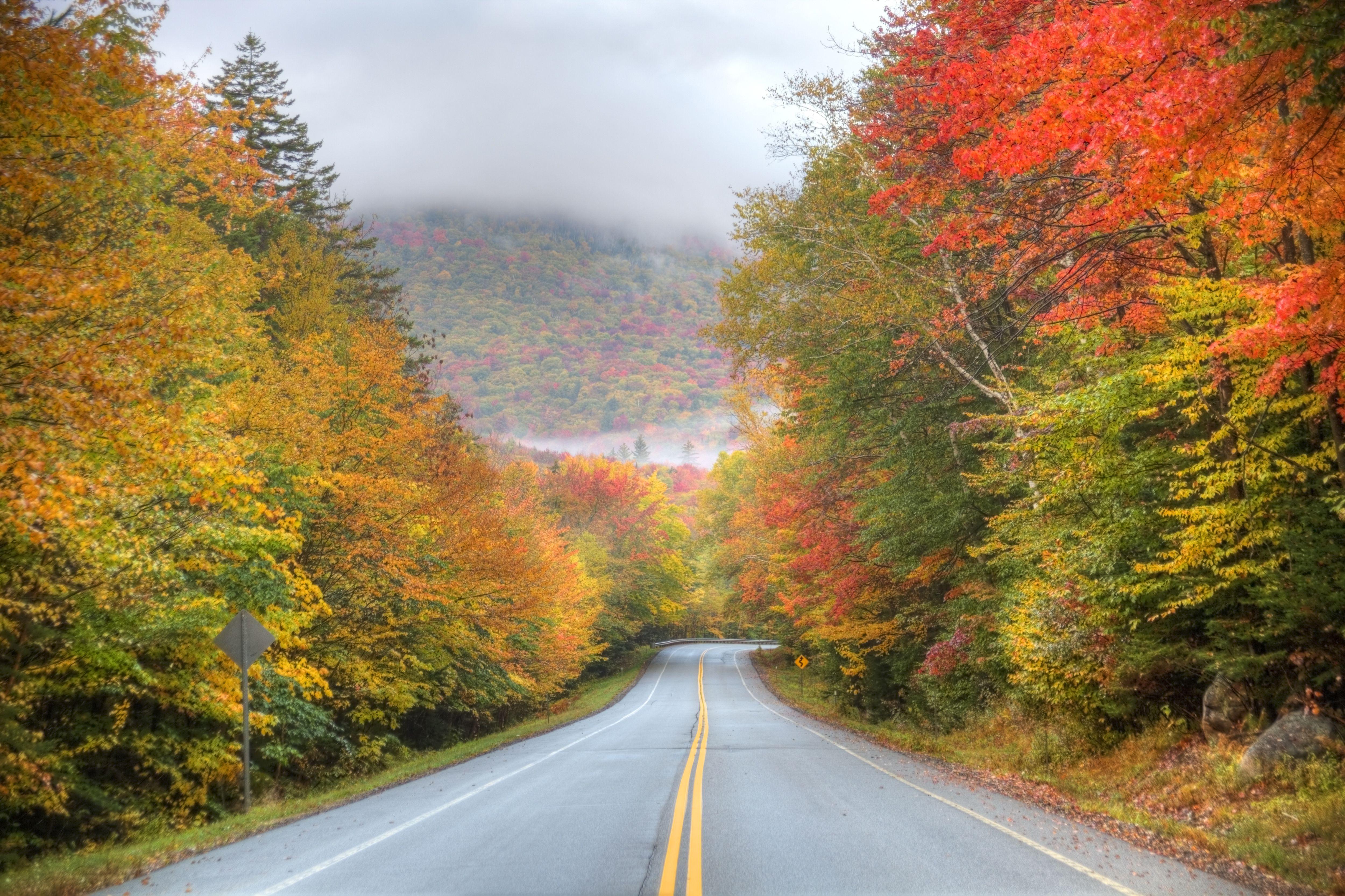 Fall Foliage Wallpaper Screensavers Kancamagus Highway Best New England Scenic Drive