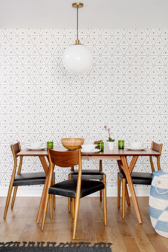 3d Geometric Wallpaper For Walls 25 Amazing Dining Rooms With Wallpaper