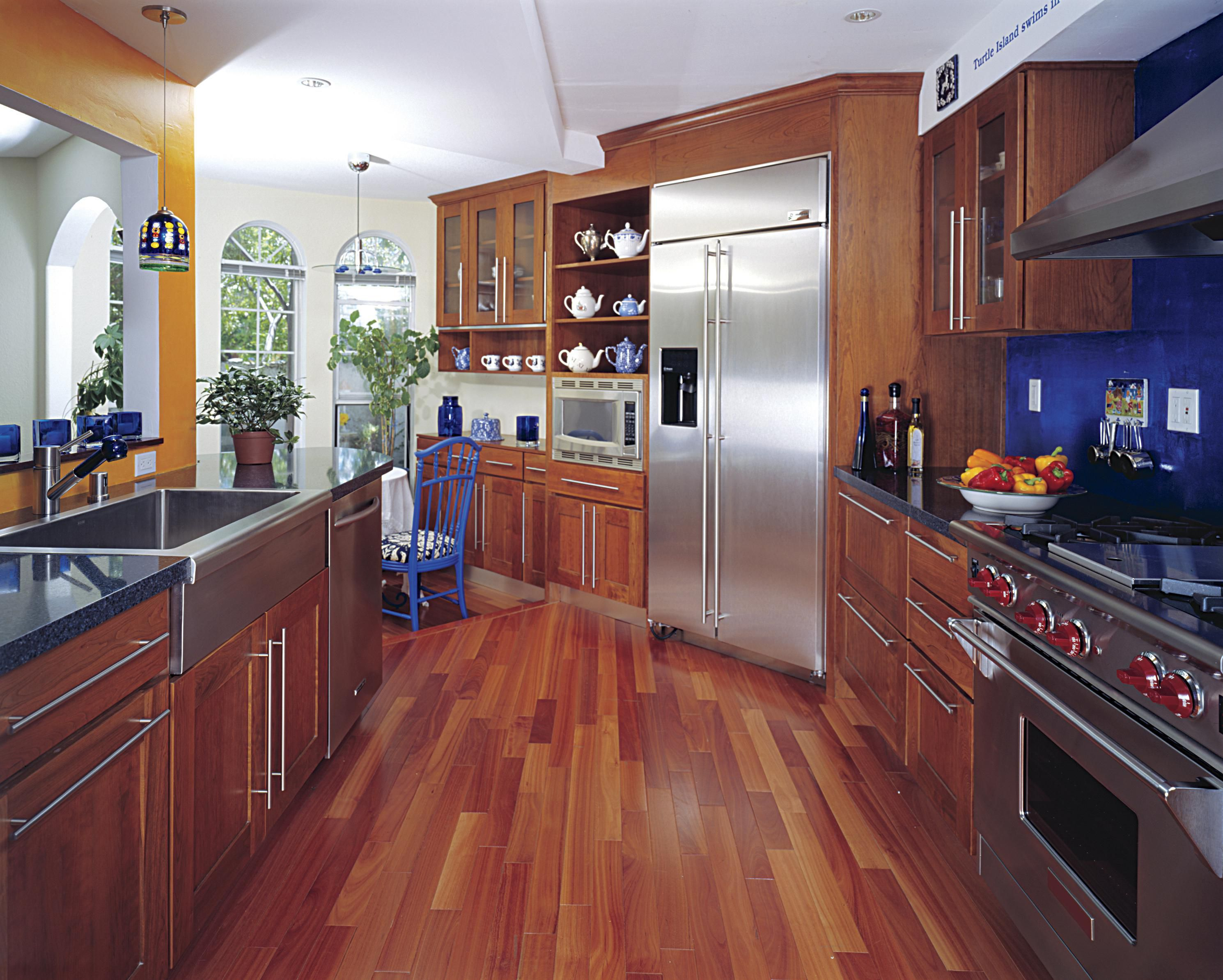 Kitchen Cabinet Wood Reconditioning Hardwood Floor In A Kitchen Is This Allowed