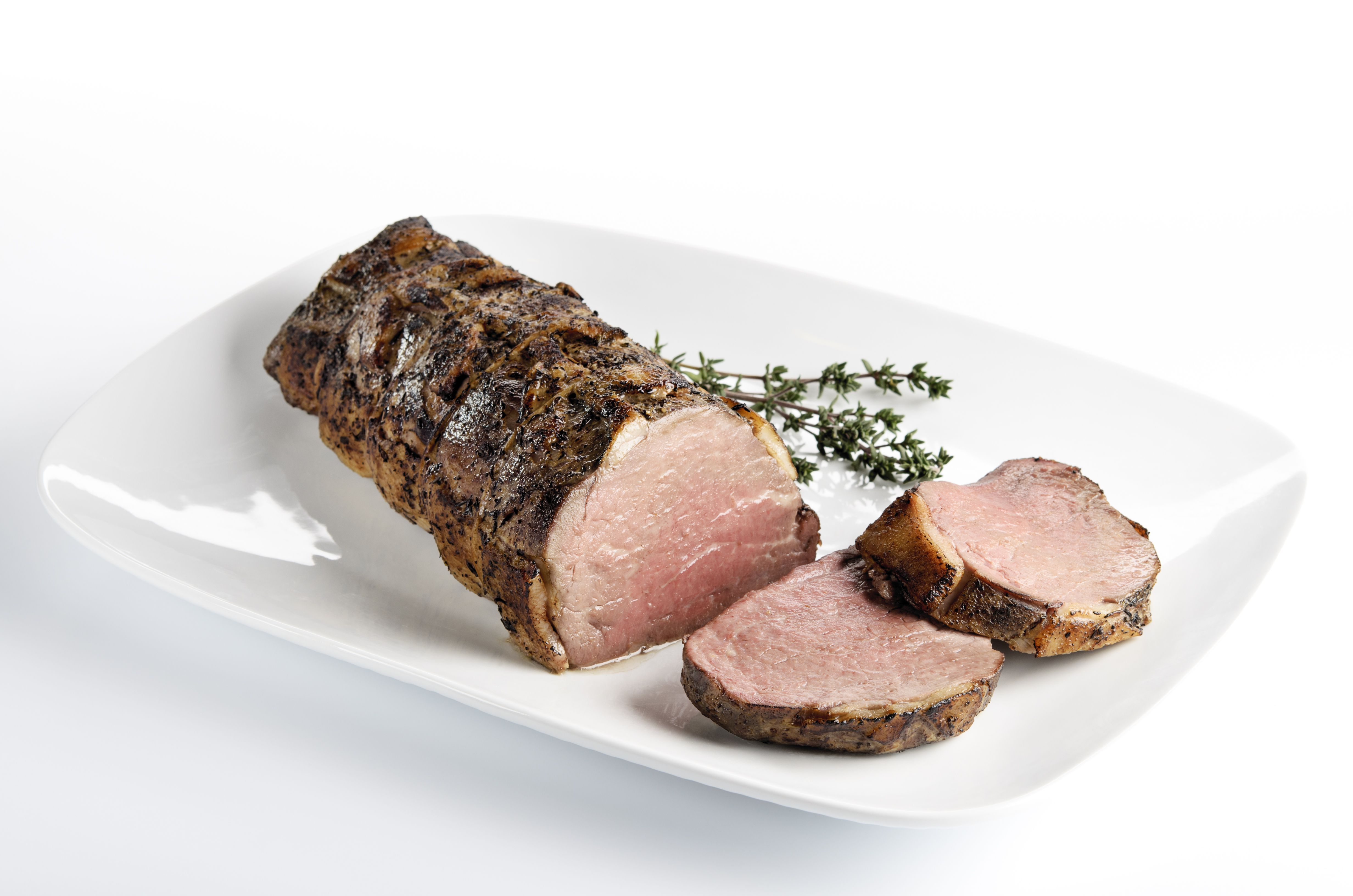 Lamb Meat Cooked Roast Beef With Garlic And Thyme