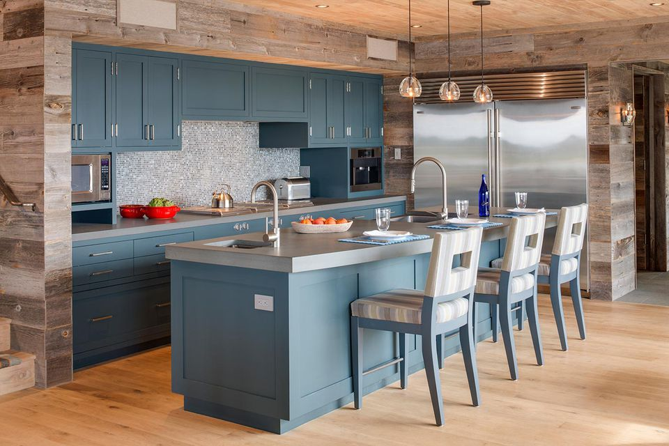 Kitchen Ideas With Light Wood Cabinets Beautiful Blue Kitchen Design Ideas