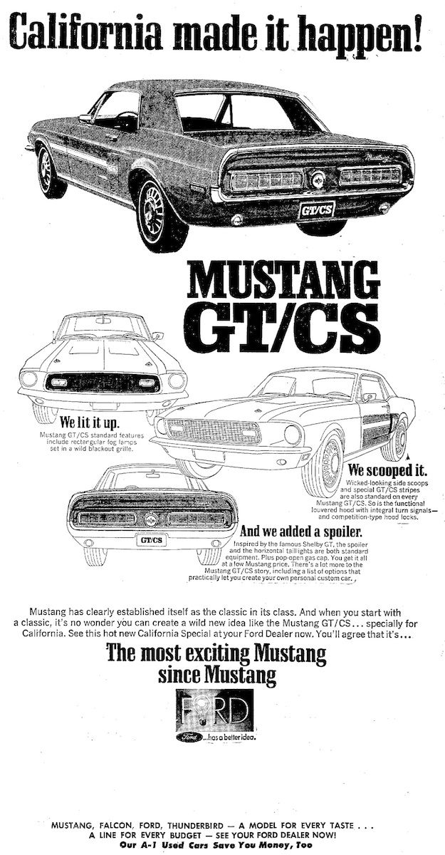 1967 ford mustang tires