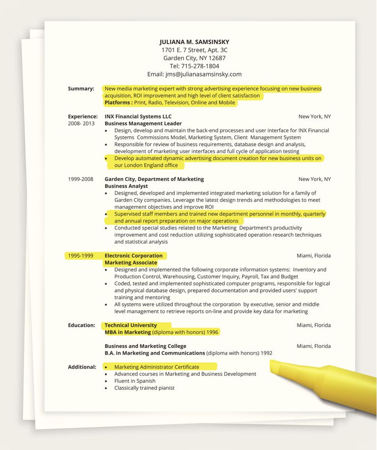 should your resume be longer than one page