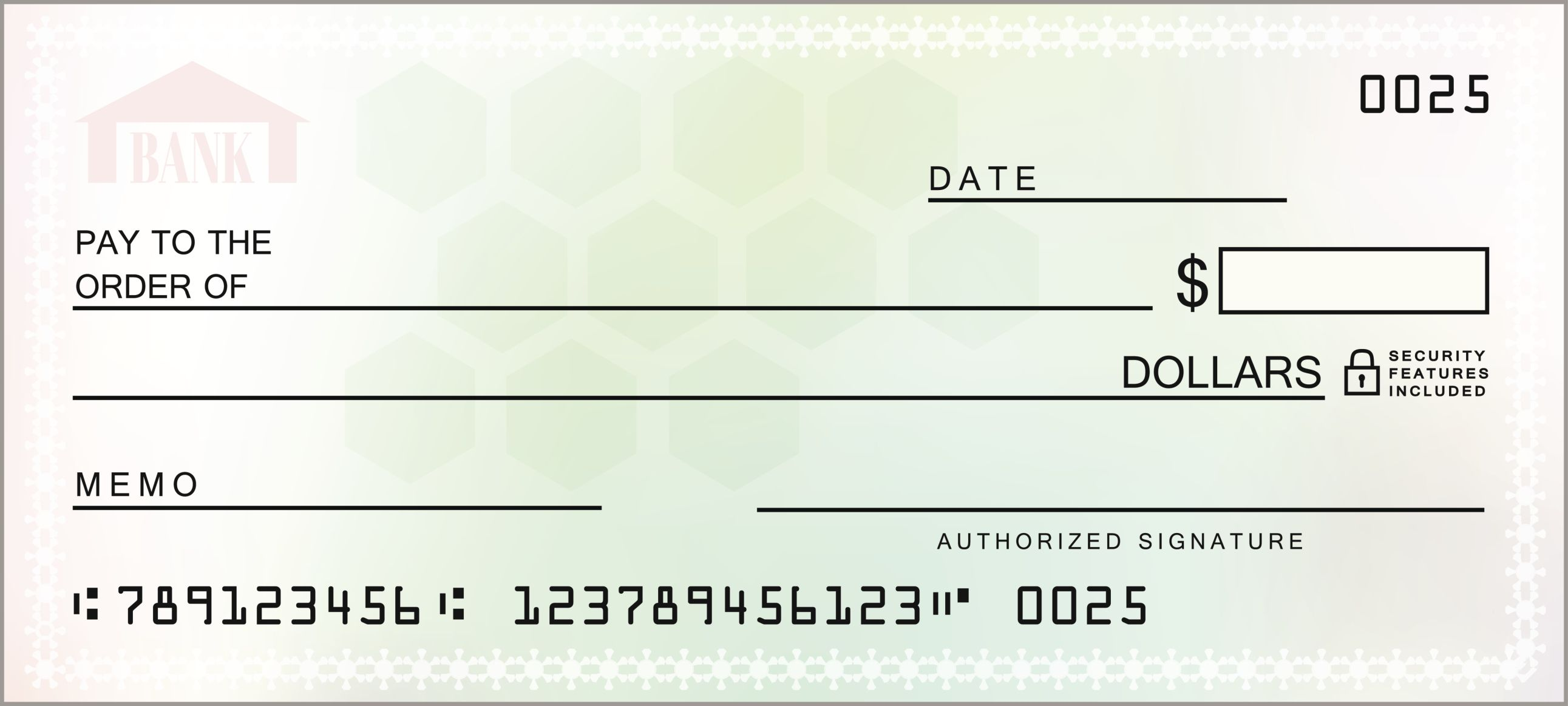 customizable blank check template