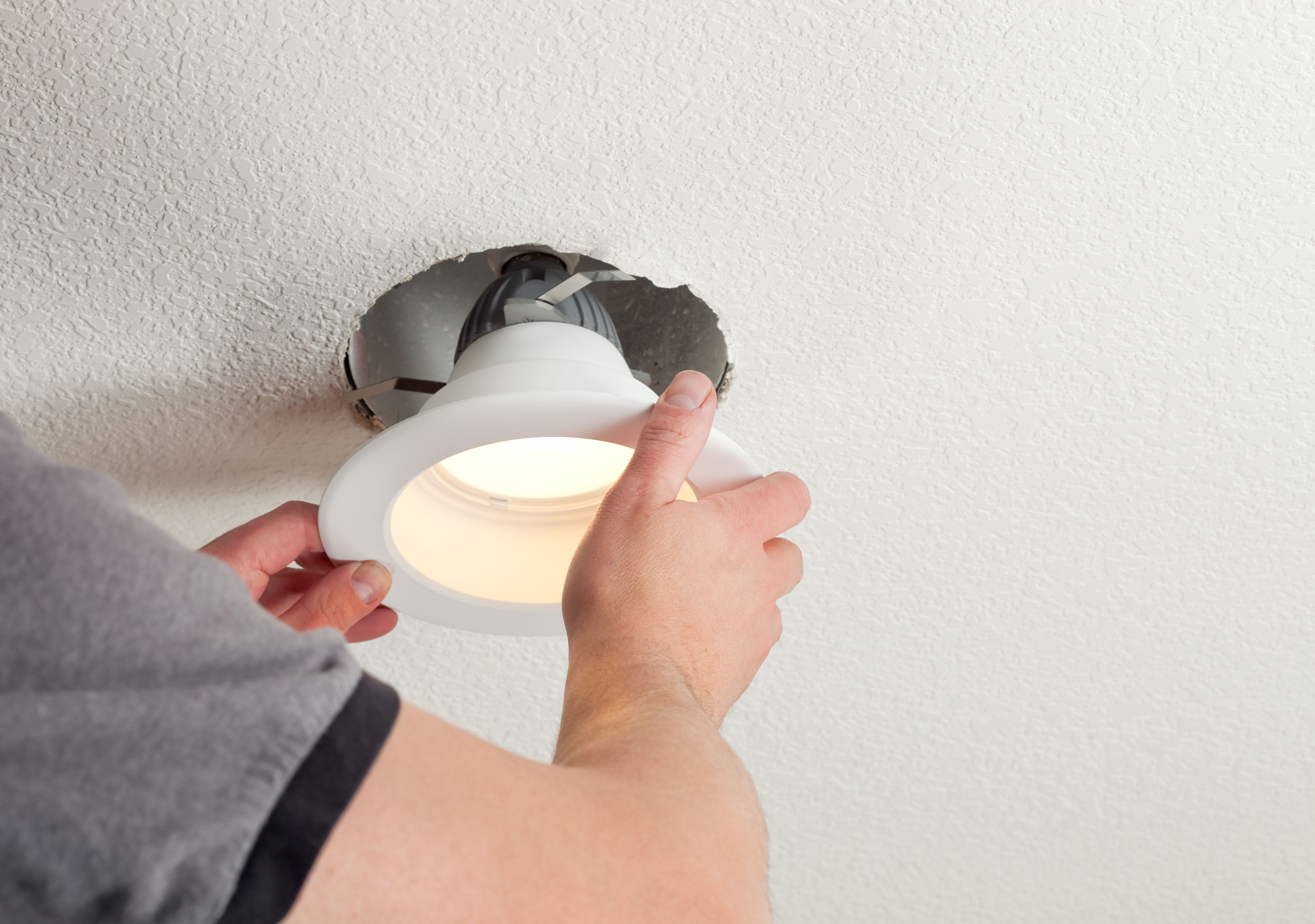 Installing Outdoor Recessed Lighting How To Fix Recessed Lights That Fall Down