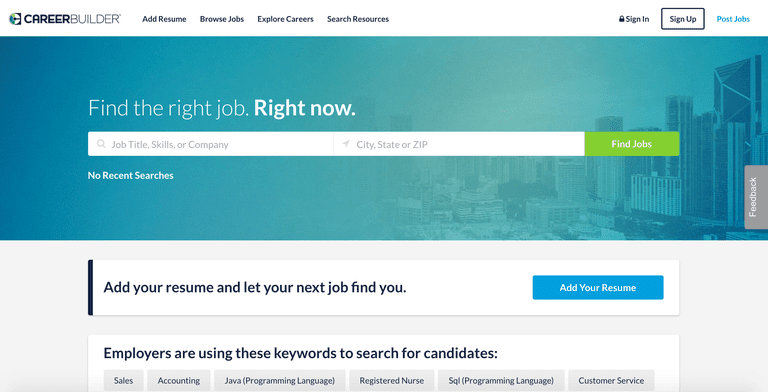 how to search resume on dice