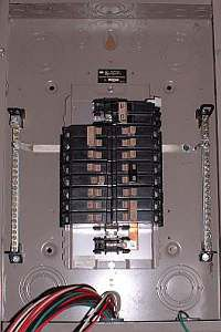 electrical knockouts for main panel wiring
